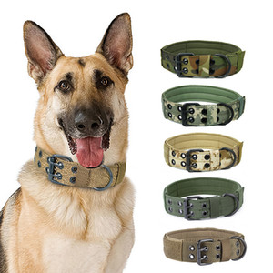 Nylon Dogs Collar Necklace Tactical Military Pet Collar Choker Camouflage Training Large Dog Collar Neck Belt Stuff Accessories Z1127