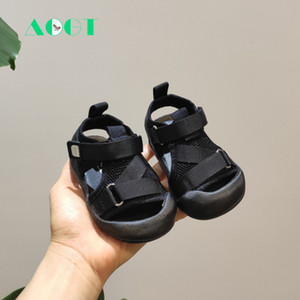 AOGT New Summer Baby Shoes Baotou Toddler Sandals 0-3 Years Girl Infant sandals Soft Bottom Breathable Mesh Boy Beach Shoes Y201028