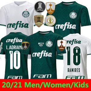 20/21 Palmeiras Jersey Soccer Hommes Femmes G.Veron Dudu L.Adriano Jersey Football Felipe Melo Ramires Camisa Palmeiras Libertadores Finales 2020