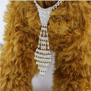 New tie necklace rhinestone Jewelry collar rhinestone pet necklace cat and dog supplies Gkgw3