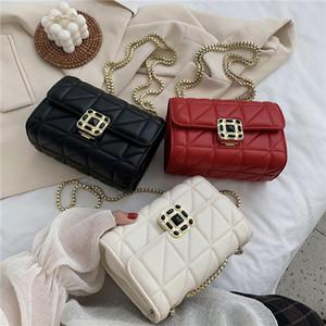 new designer shoulder bag european and american style casual shoulder bag messenger chain rhomboid ladies shoulder bag