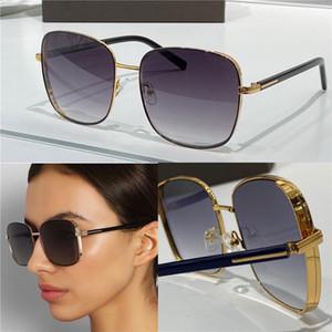 Nueva Moda Gafas de sol Populares 722 Simple Metal Square Marco Top Calidad General General UV400 Gafas protectoras con estuche