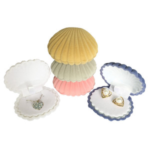 Popular Sea Shell Shape Jewelry Gift Box Fashion Cute Jewelry Box Earrings Ring Pendant Necklace Boxes Jewelry Storage Boxes DBC BH4476