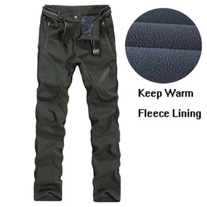 9XL Mens Outdoor Sports Thermal Waterproof Fleece Pants Winter Thick Warm Riding Hiking Hunting Fishing Climbing Skiing Trousers 201211