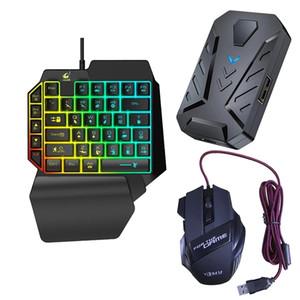 3 в 1 Bluetooth Gaming Keyboard Converter Converter Combo для смартфонов PC PUBG Mobile Game Accessorents