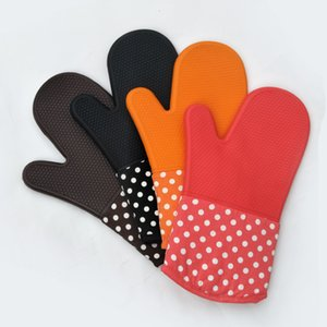 Oven Silicone Waterproof Gloves Microwave Oven Mitts Slip-resistant Heat Resistance Bakeware Kitchen Cooking Grill BBQ Tools OWD2533