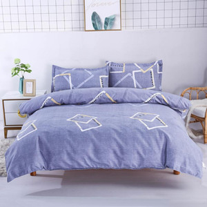 Manufacturer China 4 Pieces Set High Quality Breathable Duvet Cover Set Flat Sheet Quilt Cover Pillowcases
