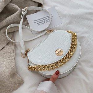 Crocodile 2021 Quality New Bag PU Pattern Chain Designer Handbag Tote Shoulder Leather Messenger Women's Rmbvp