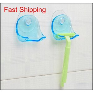 Hot Sale Shaver Toothbrush Holder Washroom Wall Sucker Suction Cup Hook Razor Bathroo qylfBZ wphome