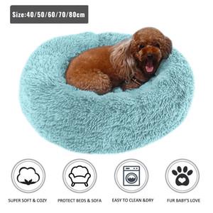 Maison de nid d'animal de compagnie imperméable longue peluche pour petit chien de chien de chien chat dormant profond lit chat lit doux animal de compagnie 40-100cm 201124