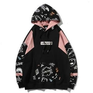 2020 New Devil graffiti print Hoodie men's fashion brand ins loose hip hop couple Pullover HoodieZGHK0LE6F66Q