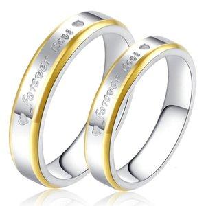 Phnom Penh Gold für immer Liebe Titan-Paar Ring Edelstahl R65