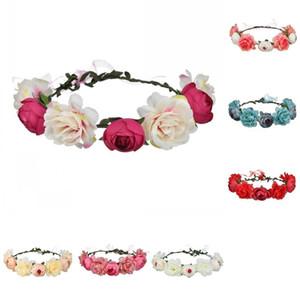 Simulación Rose Novia Headwear Mujer Moda Tiaras Diadema Ajuste Cinta Accesorios para el cabello Guirnalda Seaside Decor 5 5AT G2