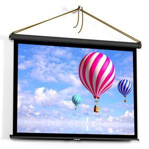 50 polegadas Projetor tela 4: 3 Tabletop tela de projeção manual de Pull Up Folding Projetando Home Theater para DLP Projector