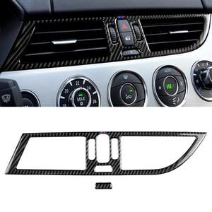 2 PCS Panneau de sortie d'air intermédiaire de la fibre de carbone de la voiture de carbone Trois Couleur Autocollant décoratif pour BMW Z4 2009-2015 Convient pour la conduite gauche