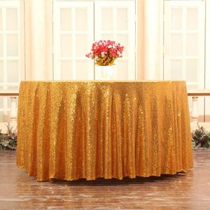 Glitter Round Tablecloth Sequin Table Cloth Gold Table Cloth Embroidered Party Celebrate Wedding Decoration