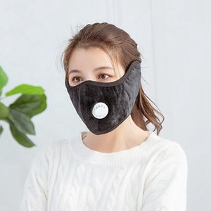 Puffes Face Ear Mask With Breathing Valve Outdoor Cycling Protective Cotton Masks Washable Winter Warm Mouth Cover SEA SHIPPING LJJP677
