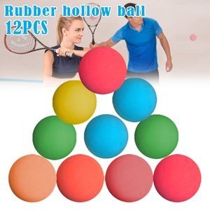 12 Pcs 5.5cm Racquetball Rubber Ball High Elasticity For Game Practice Training Drop Shipping 201116