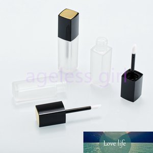 10 30 50pcs Empty Plastic Lip Gloss Tubes 5ml Clear Matt Lip Balm Tube Lipstick Mini Sample Cosmetic Container With Black Cap