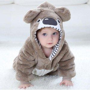 Baby Rompertoddler Boy Girl Koala زي Kawaii لطيف دافئ نيسيي الوليد الرضع الحيوان بذلة ملابس الشتاء kigurumis بيجاما 1