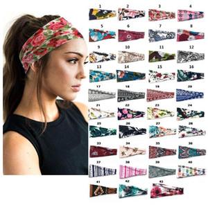 Voyage Floral Athletic Courir Turban Bandeaux Bandeaux Mode bandeau élastique Hairband Sweat d'arrêt Sweat Absorber New Style BWB3106