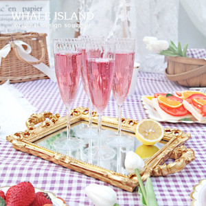 180 ml Tek Kullanımlık Şampanya Cam Üzüm Şarap Cam Şeffaf Kadehi Sofra Siyam Kupası Parti Malzemeleri Tek Kullanımlık Bardak XD24338