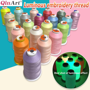 Computer embroidered luminous embroidery thread 150D   2-strand luminous thread 3000 yards   piece