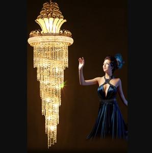 الثريات الكريستال الحديثة الأمريكية الذهب الثريا الإضاءة الدافئة الأبيض محايد الأبيض بارد الأبيض 3 ألوان عكس الضوء شنقا مصابيح