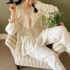 Set Donna cotone Ins Lady Sleepwear Pajamas