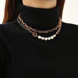 2021 New 100% Natural freshwater pearl Clavicle necklace 14KGF Chain pearls jewelry necklace 41.5cm