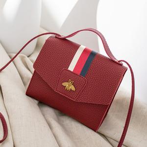 Hot Sale 2020 hot solds women fashion handbag ribbon decoration luxurys designers bags Mini bee small square single shoulder diagonal