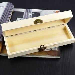 Handmade Stationery Holder Unfinished Blank Wood Box For Decoupage Present Gift 21*7*4cm fast shipping 271 N2