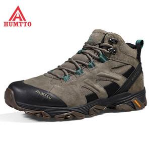 HUMTTO Wasserdicht Klettern Camping Herren Boots Professionelle Outdoor-Wanderschuhe Mens echtes Leder Trekking Bergschuhe