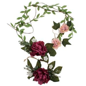 Fiori artificiali Floral Floral Headband Bride Donne Flower Crown Capel Band Decorazione perla Decorazione da sposa regalo da polso fiore