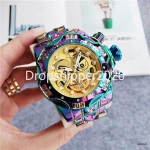 Reloj invicto 2020 Hombres de la serie de payasos de la marca Top Menor de lujo Calendario Impermeable Cronógrafo Rotativo Dial Reloj de Hombre