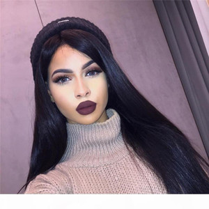 Venta caliente Brasileña Human Human Lace Front Wigs Sedky Straight Toags Wigs Sin Glueless Full Lace Wig para mujeres negras