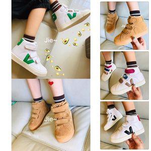 Kids Girls VEJA ESPLAR Baby Boy Sneakers Genuine Leather Villous Dermis Casual Shoes Childrens Luxury Superstar Trainer 22-35