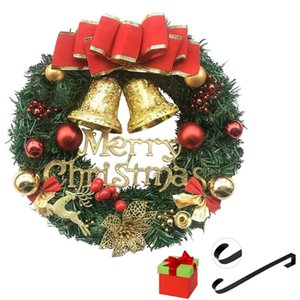 Christmas Wreath Door Hanging Teng Strip Simulation Flowers Window Decoration Christmas Ornaments Home Decor New Year's Garland