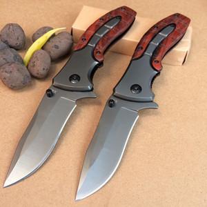 Bräunung F113 x47 Klinge 5Cr15MOV Stahlgriff mit Mahagoni-Taschenmesser Camping Survival Pocket Outdoor Jagdmesser EDC-Werkzeug