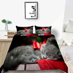 Celebrate Christmas Skull Santa Claus 2 3 pcs Quilt Covered Bedding Set New Year Winter Home Decoration