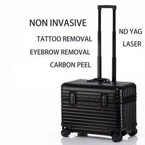 DHL Free Shipping Non invasive Q Switch Nd Yag Laser Tattoo Remove Picosecond Machine MINI Portable PICO Q-Switch Laser Beauty Equipment