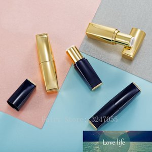 50pcs Bright Gold Square Empty Lipstick Tube 12.1mm Lip Balm Container Cosmetics Refillable Lipstick Shell Packaging