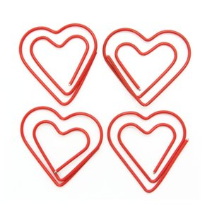 Bulk package 200 pcs Love Heart Shaped Paper Clips Note Photo Sign Clips Bookmark Clips Stationery Office Accessories,