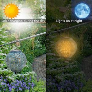 New Design F8 Straw Hat Lamp Beads Solar Light Control Automatic Induction Garden Decoration Outdoor Waterproof Garden Retro Iron Lamp