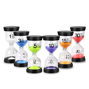 Sand Timer الملونة الرملية الرملية الزجاج الموقت 1 دقيقة / 3 دقائق / 5 دقائق / 10 دقائق / 15 دقيقة / 30 دقيقة ساعة للألعاب classro1