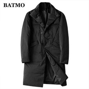 BATMO 2019 new arrival winter 80% white duck down jackets men,men's winter trench coat men, 1001 Y1120