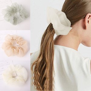 Fashion Chiffon Scrunchies Bobble Color Sports Elastic Dance Headband Rope Women Hair Band Ring Scrunchie Ponytail
