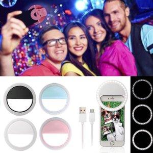 Tragbare Mini Selfie LED Ring Flash Smartphone Selfie Kamera Schönheit Licht Universal Light Phone Objektiv für Live Video1