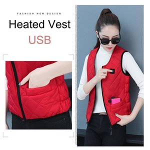 USB Thermal Electric Heated Vest Women Infrad Battery Jacket Winter Heated Jacket Outdoor Hiking Warm Clothing Tactical Vest