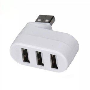 3-Port USB 2.0 Hub Ruota Splitter Extension Dock Hub USB per PC Notebook FKU66